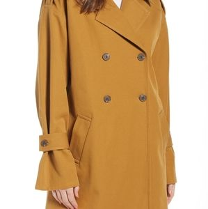 Something Navy - Tan Oversized trench coat